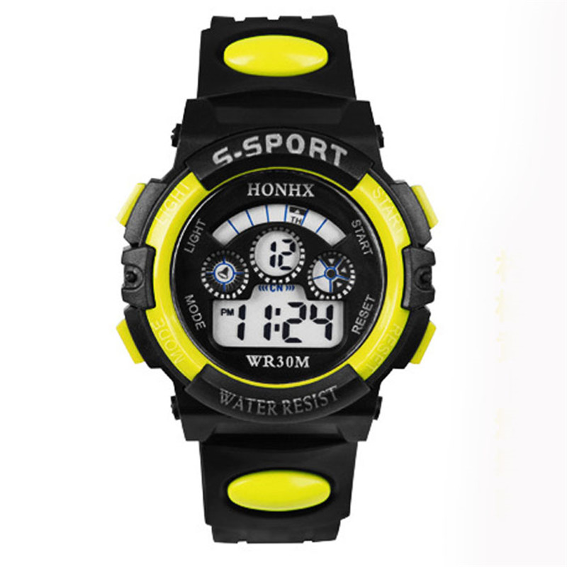 Children's Watches  Waterproof Children Watch Boys Girls LED Digital Sports Watches Silicone Rubber Kids Alarm Date Casual Watch