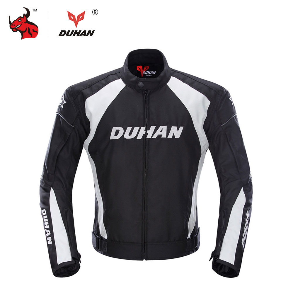 Prix pour DUHAN Hommes de Moto Coupe-Vent Équitation Off-Road Racing Sport Veste Vêtements Avec Cinq Protecteur Gardes