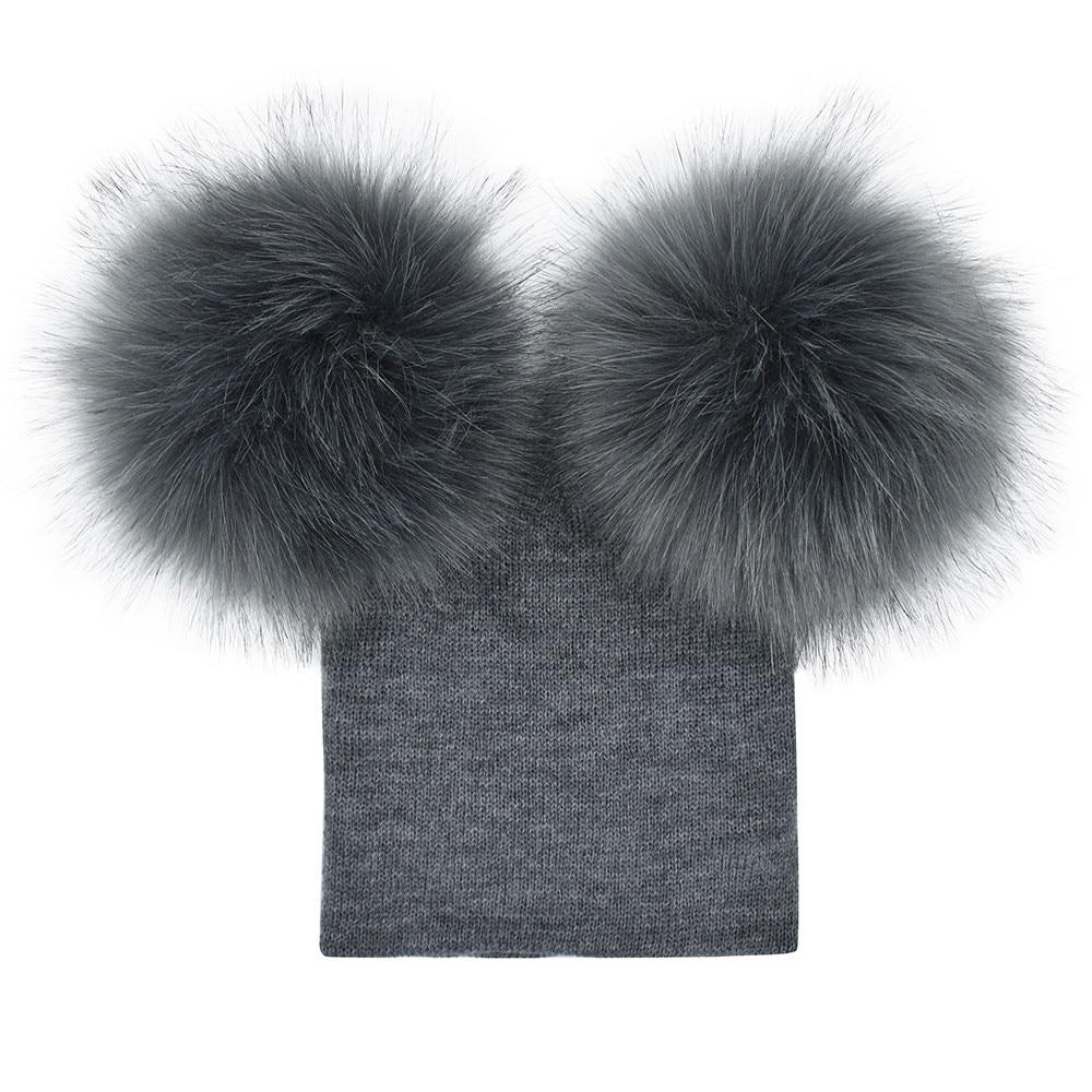 #5 2018 NEW HOT Fashion Infant Girls Boys Crochet Knit Winter Warm Faux Fur Ball Hat Beanie Cap Free ship