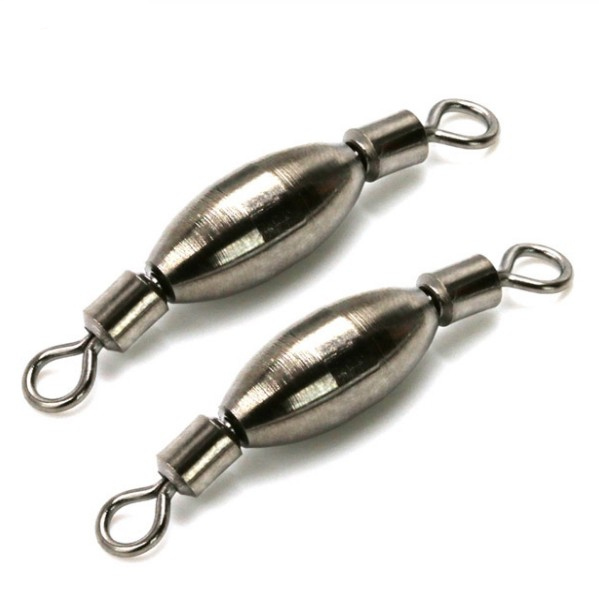 3 unids/lote nuevo diseño swivels pesca sinker plomo contrapeso accesorios de pe