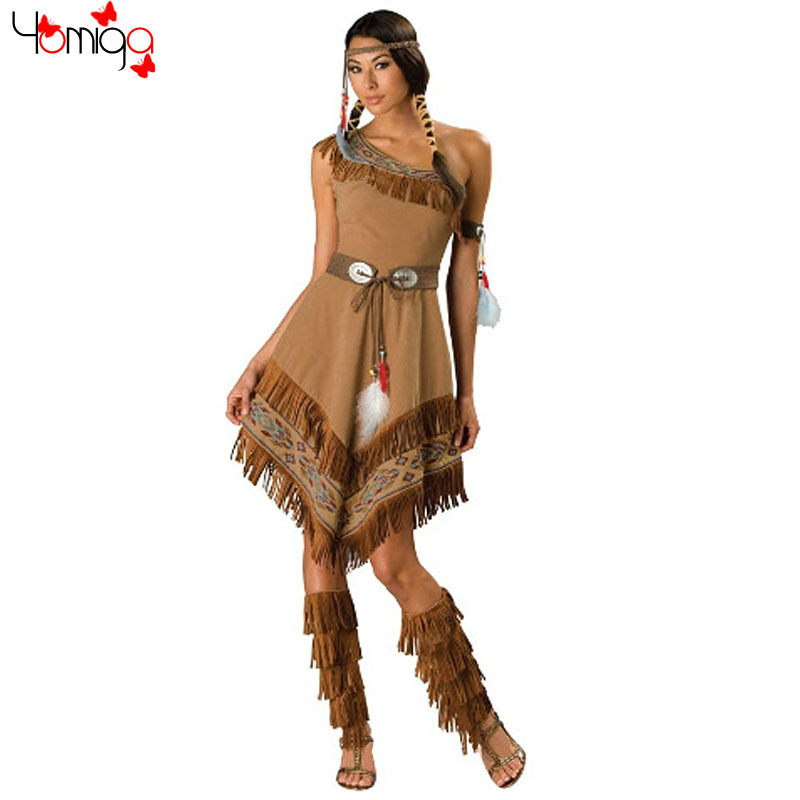 New khaki women costumes halloween outfit fancy dress american indian princess costumes carnival cosplay sexy indian costume on Aliexpress.com | Alibaba ...  sc 1 st  AliExpress.com & New khaki women costumes halloween outfit fancy dress american ...
