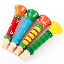 Деревянные детские рога игрушки деревянные игральные свистки инструменты Младенческая головоломка Раннее детство обучающие игрушки