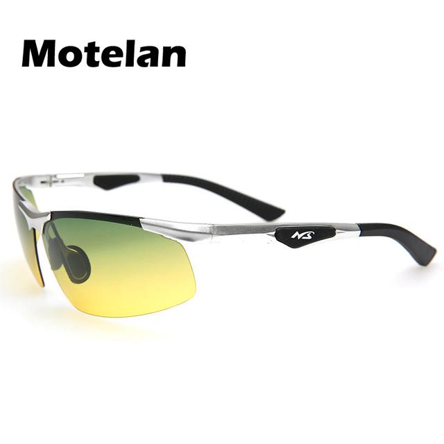Day night vision óculos polarizados anti-reflexo noite óculos de condução polarizada óculos de Sol dos homens de Chuva e nevoeiro dias agraciado óculos