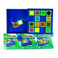 Kids Geometric Logic Puzzle Game Educational Toys 3D Puzzles Square Toys For Children Juguetes Educativos