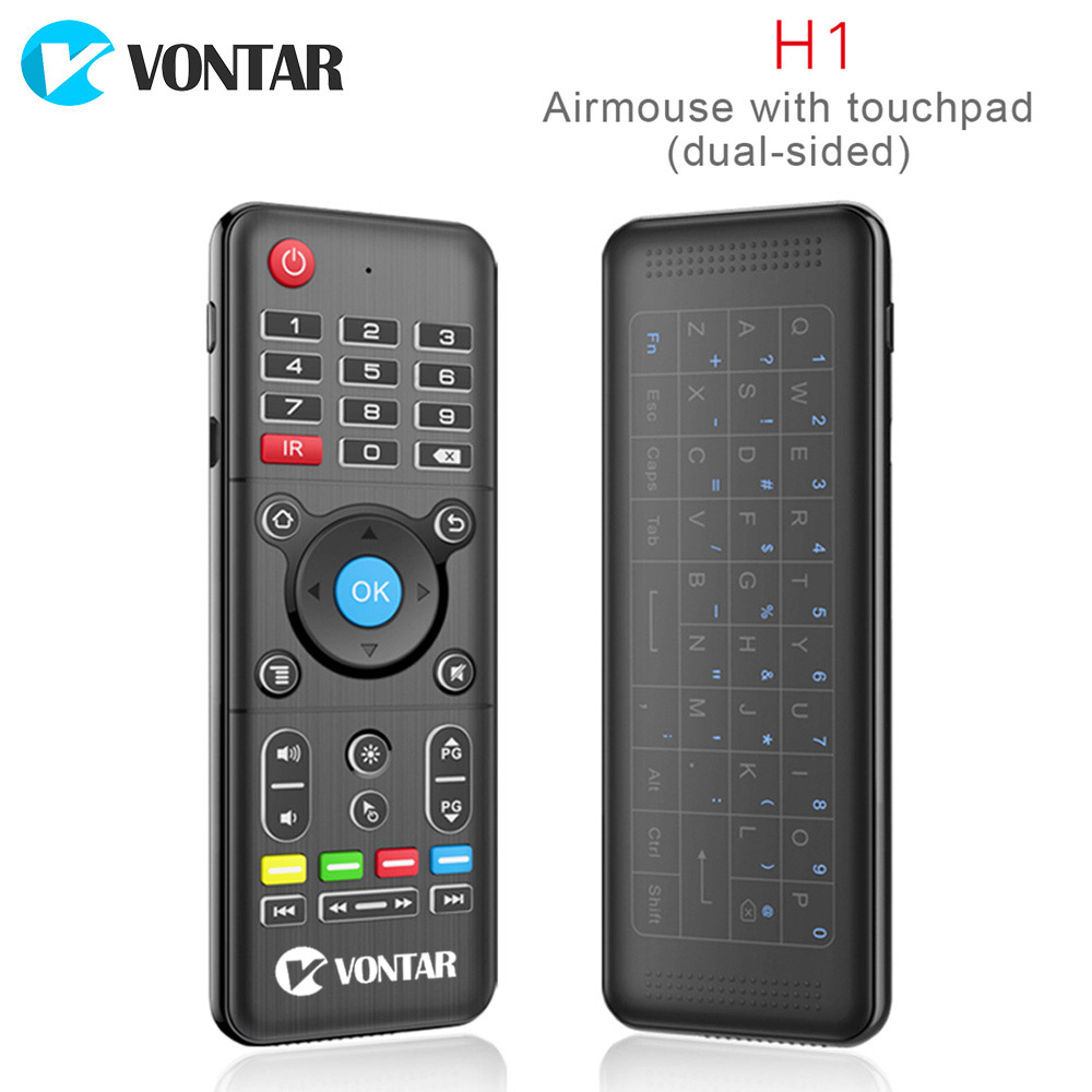 лучшая цена VONTAR 2.4GHz Wireless Air mouse mini keyboard Remote Control Standard or Backlit Full Touchpad with IR Learning for Android box