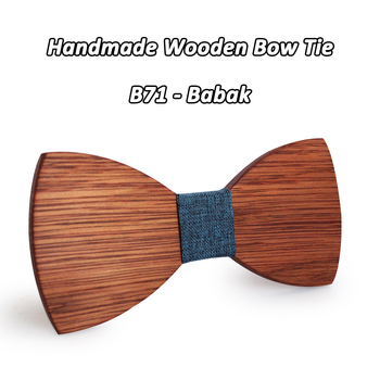 Mahoosive Simple Men's Suit Wooden Bow Tie For Groom Wedding Party Men Formal Wear Business Cravat Bow tie Clothing Accessories 1