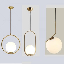Modern Minimalist Pendant Light Lamp Nordic Ceiling Clothing Decoration Glass Ball Lamp for Living Room Bedroom Dining Room недорого