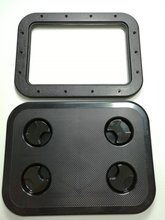Boat RV Motohome Access Inspection Deck Hatch Black L17.3 inch W13.0 inch 0550B