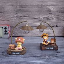 One Piece LED night light Luffy Handicraft reading lamp Japanese Anime luminaria table lamp Chopper Home Decoration