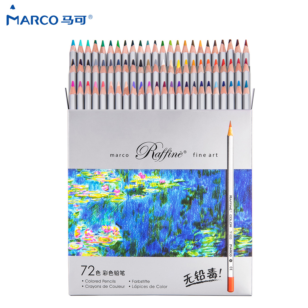 Andstal Marco Raffine 24/36/48/72Colors Non-toxic Color Pencil Lapis De Cor Professional Oil Colored Pencils For School Supplies