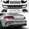 Mercedes W205 AMG Stil Heckstoßstange Diffuser Lip für Bnez A205 C205 mit AMG Paket 2015 + Coupe Cabriolet C180 C250 C300 C350