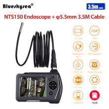 Blueskysea NTS150 Endoscope Inspection Camera 3.5 LCD Monitor 5.5mm Diameter Meters Tube 16GB DVR Borescope Zoom Rotate Fl