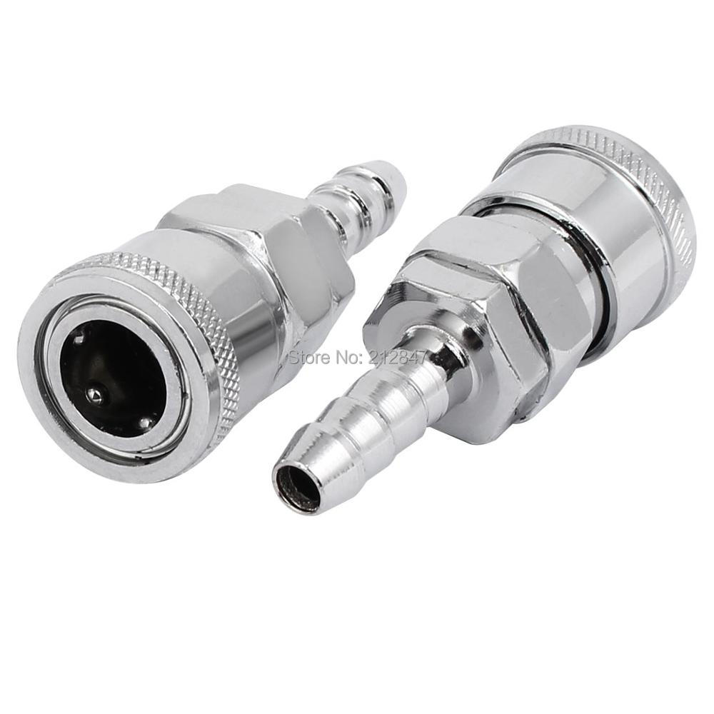 SH-20 Air Compressor Zinc Plated Quick Coupler 2PCS for 8mm Pipe Inner Dia 13mm male thread pressure relief valve for air compressor