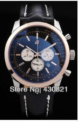 men's Watch automatic precision steel belt watches  Men's wrist watch three eye design Timer