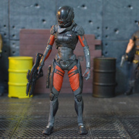 Great Quality McFarlane Mass Effect:Andromeda Sarah Opp Bag Pack Movable Doll Model Toy Action Figure