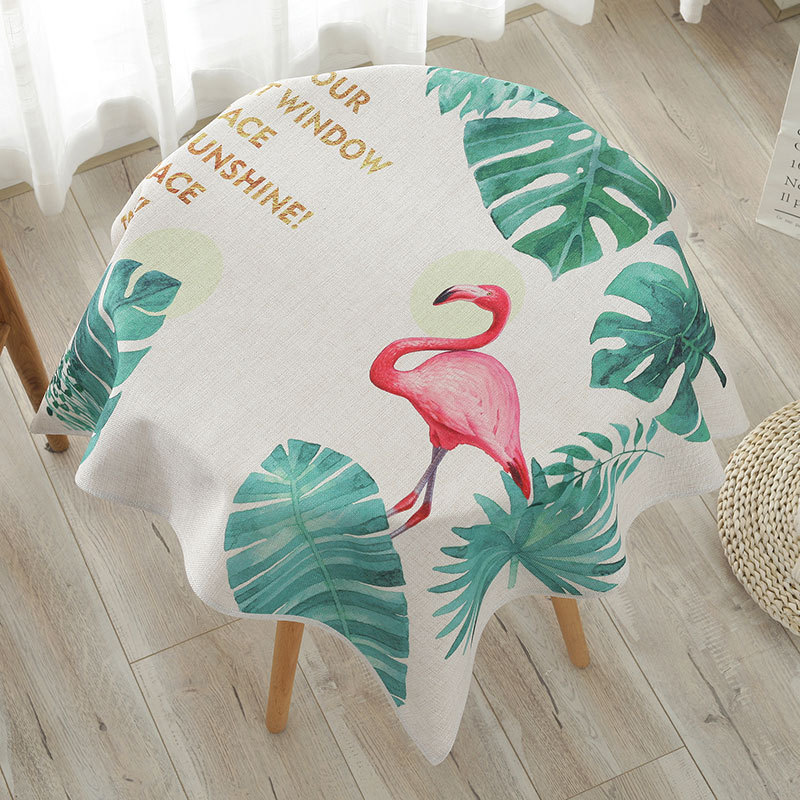 cotton linen tablecloth round dining table cloth nature freshness home decorative table cloths