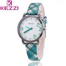 KEZZI Marca de Moda de Lujo de Las Mujeres Relojes de Cuarzo Hombres Correa de Cuero Relojes de Pulsera Informal Neutral Relojes Neutrales