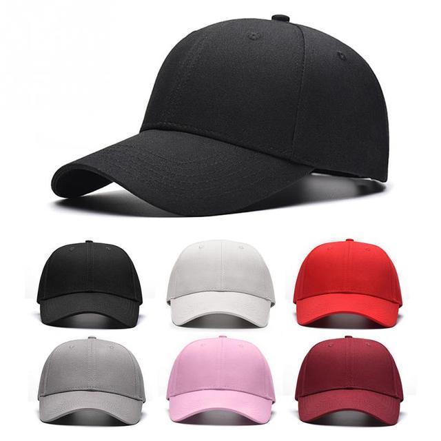 10d5461cac2 Unisex Casual Solid Adjustable Baseball Caps Snapback hats for men baseball  cap women men white baseball cap hat cap