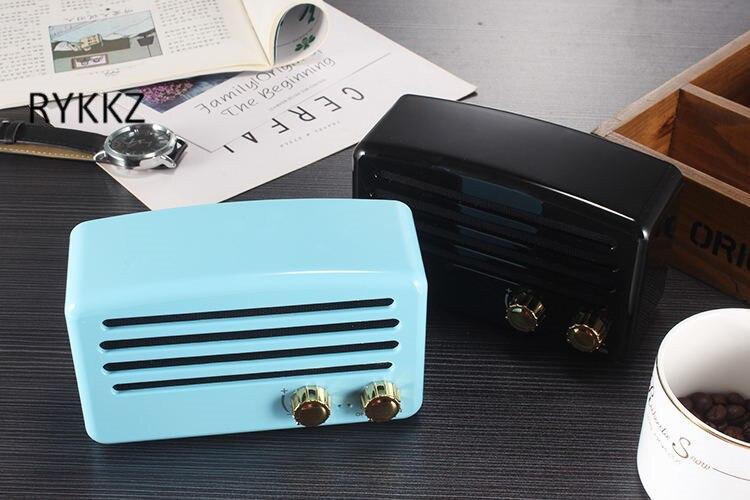 Cadeau électronique sans fil rétro Bluetooth haut-parleur Portable Radio classique nostalgique Mini haut-parleur T5