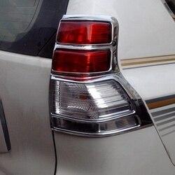 Akcesoria dla Toyota Prado FJ150 FJ 150 2010 2011 2012 2013 ABS Chrome tylne światła pokrywa wykończenia tylne światło jaskrawe Bezel dekoracji