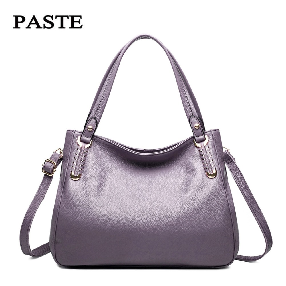 Genuine leather Women Bag Set Top-Handle Big Capacity Female Handbag Fashion Shoulder Bag Purse Ladies cow Leather Crossbody Bag women bag set top handle big capacity female tassel handbag fashion shoulder bag purse ladies pu leather crossbody bag