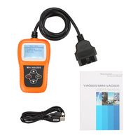 10 STÜCKE Original Memoscan Mini VAG505 Super Professionelle memo scanner Vag 505 OBDii CAN OBD Code Scanner aktualisiert online