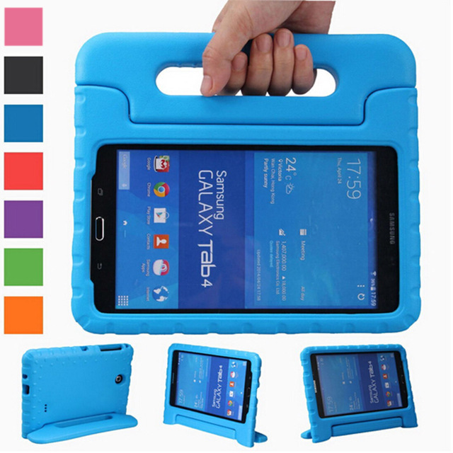 Eagwell Kids Children Shockproof Case Handle Stand Cover for Samsung GALAXY Tab 4 8 inch T330 T331 EVA Foam Tablet Protect Case