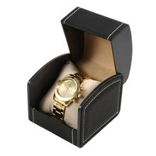 2017 Luxury Leatherette Watch Box Trendy Jewelry Box With Pillow Package  Case Watch Jewelry Storage Gift Box