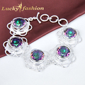 Fashion Venus Colorful Charm AAA+ Flower Shape Mystical Crystal Strand Bracelet