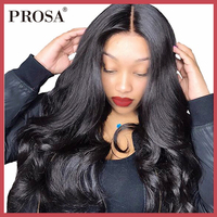 13X6 Lace Front Human Hair Wigs For Women Black 180 Density Brazilian Lace Wig Body Wave Lace Front Wig Pre Plucked Remy Prosa
