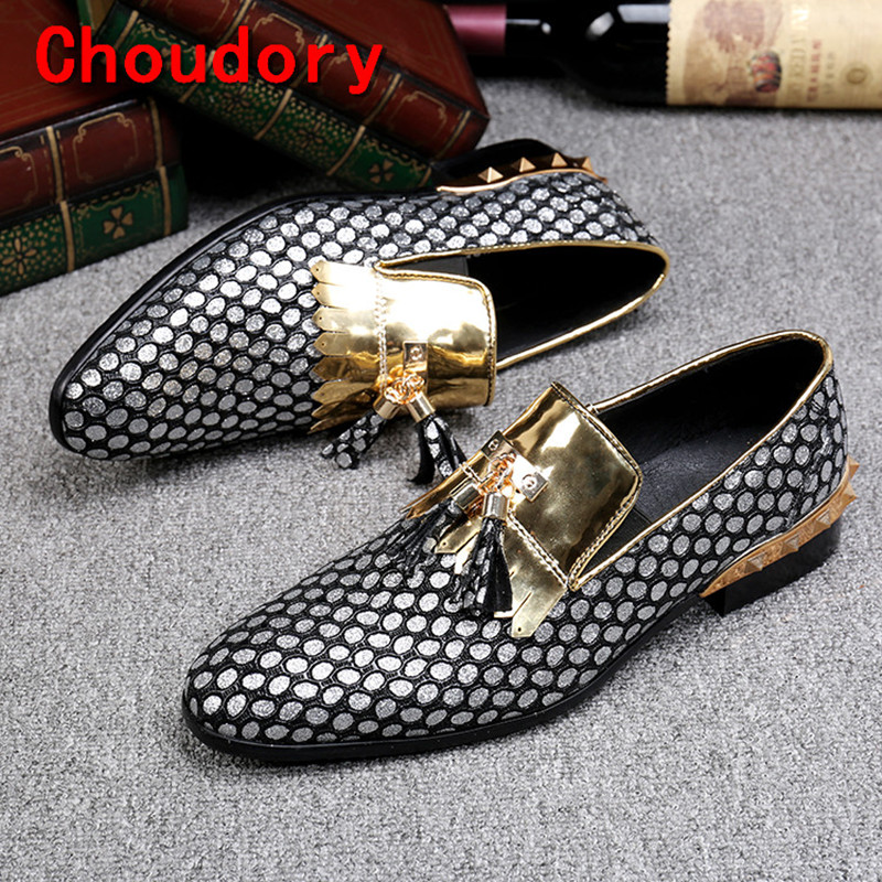 Choudory sapatos masculino mens dress shoes braided leather black spiked loafers velvet gold tassel slipon italian mens shoes Choudory sapatos masculino mens dress shoes braided leather black spiked loafers velvet gold tassel slipon italian mens shoes