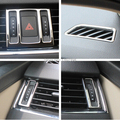 Highlight Stainless Steel 5pcs/set Car Dashboard Air Outlet Decoration Frame For Skoda Octavia a7 2013-Current