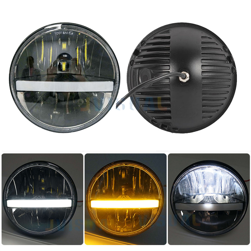 1pc 36w For Jeep Wrangler TJ JK LJ CJ 2D 4D 7 Round LED Headlight 7inch