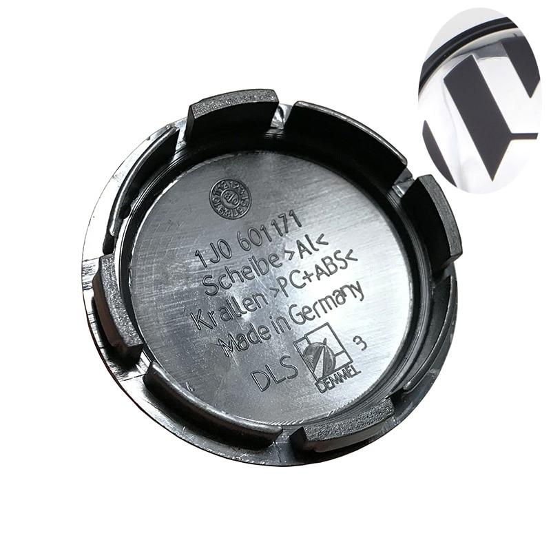 4Pcs/lot 56mm Car Wheel Center Hub Cap Covers 1J0 601 171 Emblem LOGO Fit For VW JETTA PASSAT 1J0601171 Car Styling