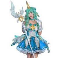 Game Cosplay LOL Star Guardian Soraka Outfit Women Halloween Christmas Costume Soraka Cosplay Costume for Women