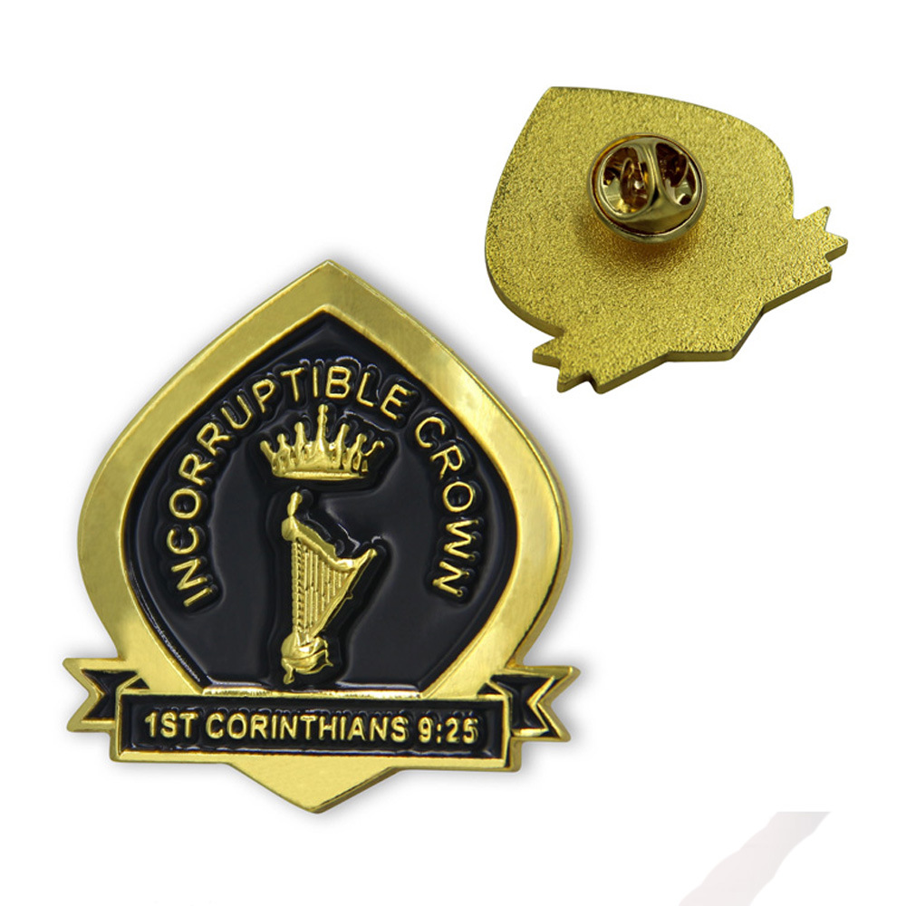 High quality school event enamel lapel pin for souvenir badges in Pins Badges from Home Garden