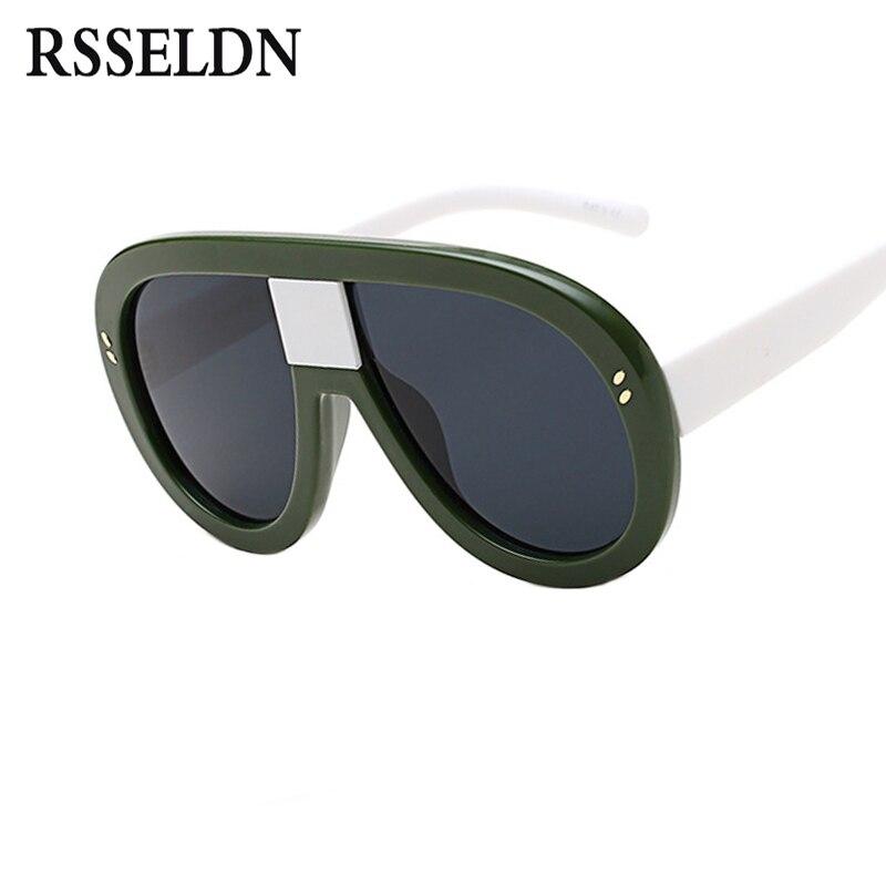 Rsseldn más nuevo gran tamaño Gafas de sol mujer marca diseñador moda Sol Gafas sombras femeninas grande Marcos estilo Ladies Eyewear UV400