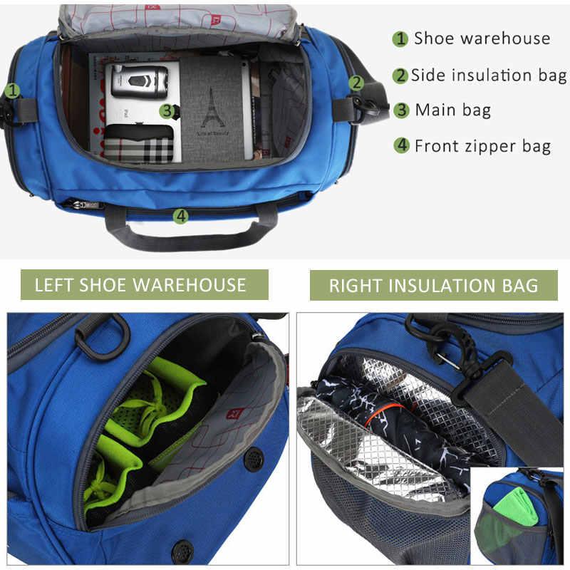 Scione Водонепроницаемая спортивная сумка для путешествий многофункциональная тренировочная сумка панелями багаж тренажерный зал выходные Кроссбоди обувной чемодан для хранения