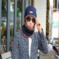 Lã De Malha De inverno tampão do Algodão lenço Das Mulheres Dos Homens Além De Veludo Chapéu Cachecol Quente Esporte Ao Ar Livre Chapéus Para Gorro Bonnet HT-129