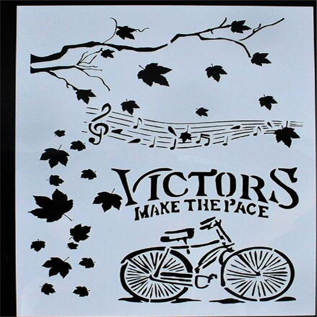 Ms004 Bicycle Diy Tools Card Masking Spray Drawing Stencil For
