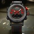 NAVIFORCE Brand Luxury Men Leather Sport Military Watch Dual Time Quartz Analog Digital Wristwatch Male Relogio Masculino Clock