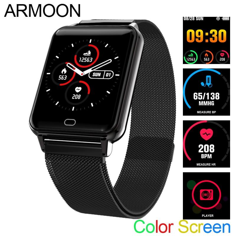 Умные спортивные часы M21 сердечного ритма браслет крови Давление фитнес контроль сна трекер Водонепроницаемый Android IOS Цвет экранная полоса-in Смарт-браслеты from Бытовая электроника