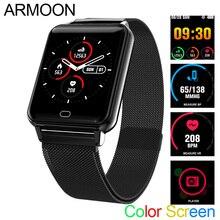 الذكية الرياضة ساعة M21 سوار قياس معدل ضربات القلب ضغط الدم النوم رصد جهاز تعقب للياقة البدنية مقاوم للماء أندرويد IOS اللون شاشة الفرقة