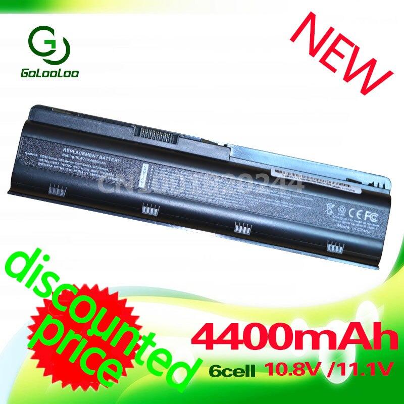 Golooloo 4400 mah batterie pour HP MU06 dv5 dv6 dv7 650 435 635 430 431 630 631 655 G6 DV5 g7 G32 G42 G6 G7 G56 G62 MU09XL WD548AA