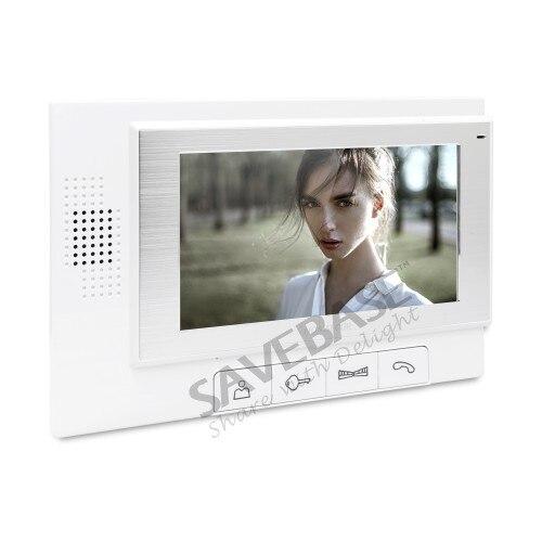 HOMSECUR 7 Video Door Phone Intercom System+Intra-monitor Audio Intercom TC041 + TM702-W