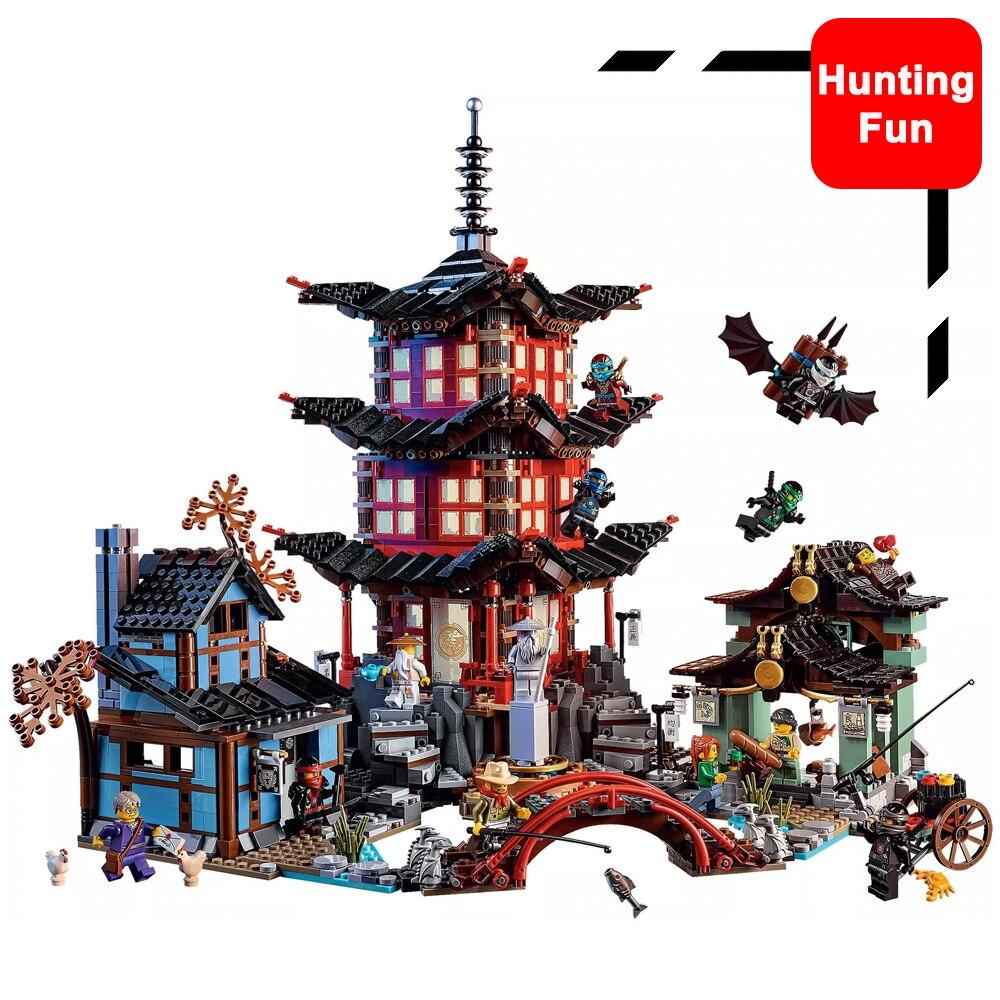 Fit Legoness Ninjagoe 70751 Temple de Airjitzu Ninja Mini-Figurines Pack Ensemble Lloyd 2150 pcs Blocs de Construction jouets pour enfants cadeaux