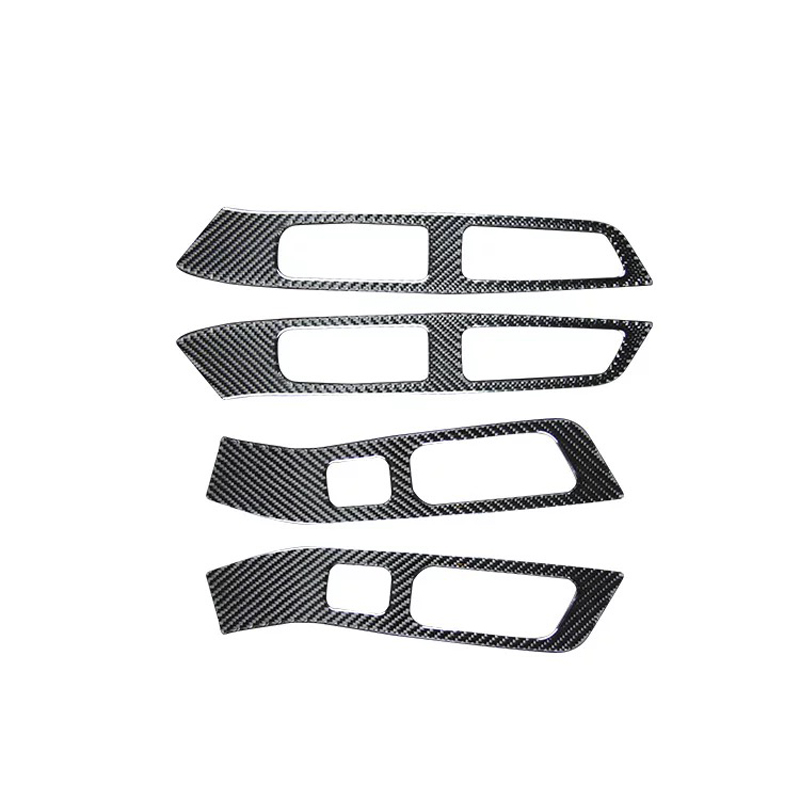 For Volvo <font><b>XC60</b></font> 2018 <font><b>Carbon</b></font> Fiber 1 Set Car Interior Door Window Lift Glass Switch Buttons Cover Molding Car Styling Accessories image