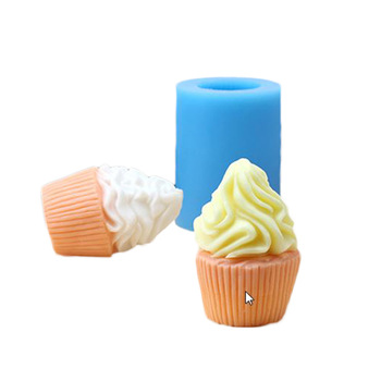 3d ice cream shape Soap Mold Craft Rose Silicone Soap Making Mould