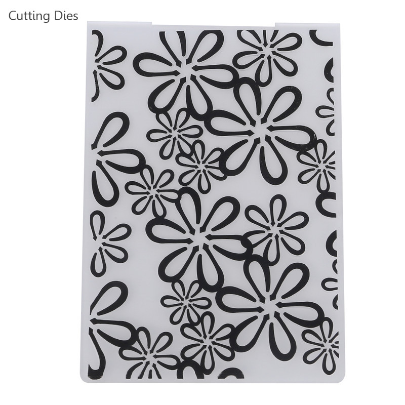 Flower Printed DIY Scrapbooking Plastic Embossing Template Folder Stencil For Album Card Fondant Making Home Decoration Tools image