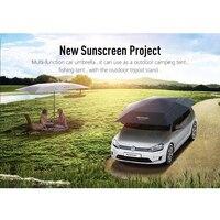 Новая автоматическая автомобильных зонтик солнечное укрытие Автоматическая автомобилей Палатка Открытый Палатка с удаленного Управление